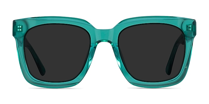 Los Angeles Clear Green Acetate Sunglass Frames from EyeBuyDirect