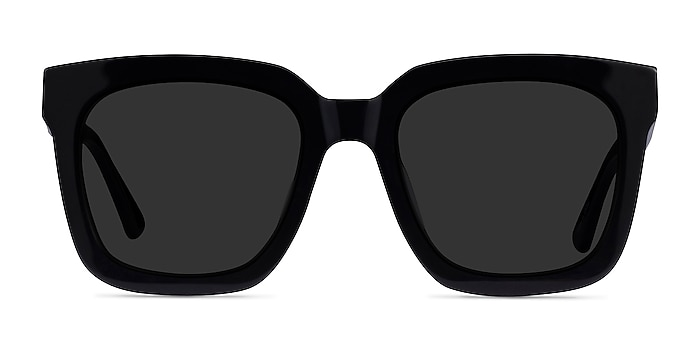 Los Angeles Black Acetate Sunglass Frames from EyeBuyDirect