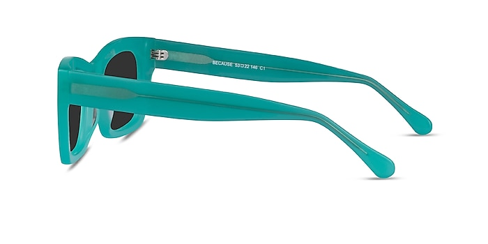 Because Turquoise Acetate Sunglass Frames from EyeBuyDirect