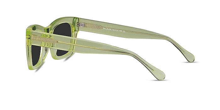 Because Clear Yellow Acetate Sunglass Frames from EyeBuyDirect