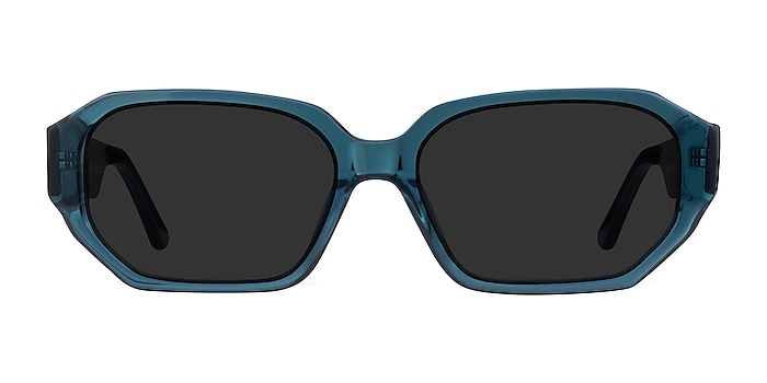Claudel Teal Acétate Soleil de Lunette de vue d'EyeBuyDirect