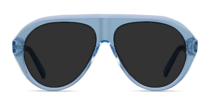 Map Clear Blue Acetate Sunglass Frames from EyeBuyDirect