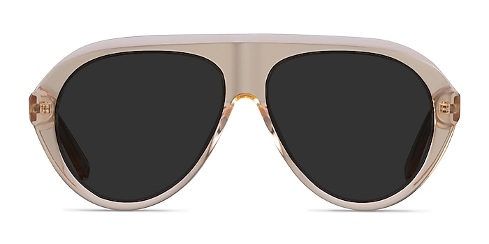 Map Clear Brown Acetate Sunglass Frames from EyeBuyDirect