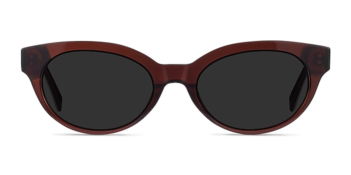 Vacation Clear Brown Acetate Sunglass Frames from EyeBuyDirect
