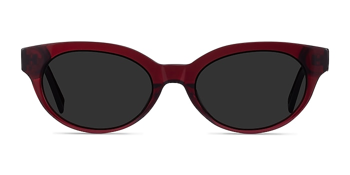 Vacation Clear Burgundy Acetate Sunglass Frames from EyeBuyDirect