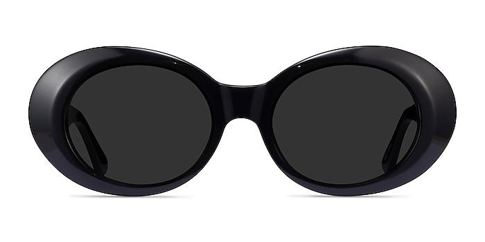 Otsukimi Noir Acétate Soleil de Lunette de vue d'EyeBuyDirect