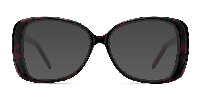 Marilyn Black Red Acetate Sunglass Frames from EyeBuyDirect