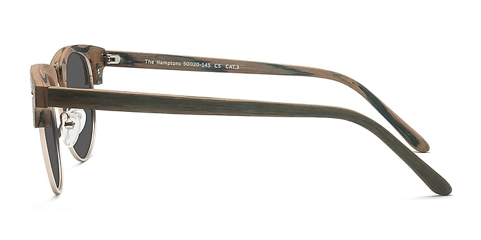 The Hamptons Walnut & Gold Acetate-metal Sunglass Frames from EyeBuyDirect