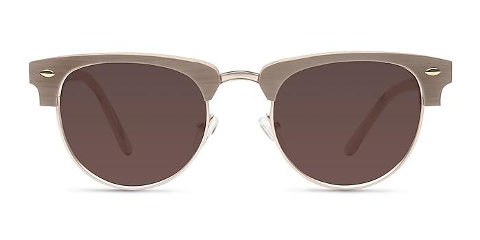 The Hamptons Oak & Silver Acetate-metal Sunglass Frames from EyeBuyDirect