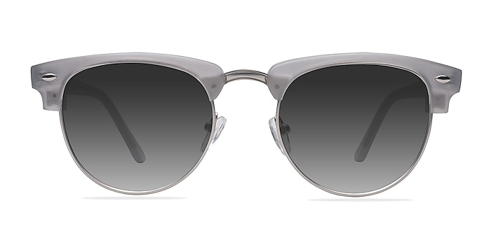 The Hamptons  Clear Silver  Acetate-metal Sunglass Frames from EyeBuyDirect
