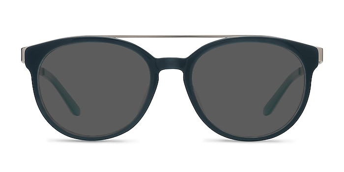 Morning Breeze Navy silver Acetate-metal Sunglass Frames from EyeBuyDirect