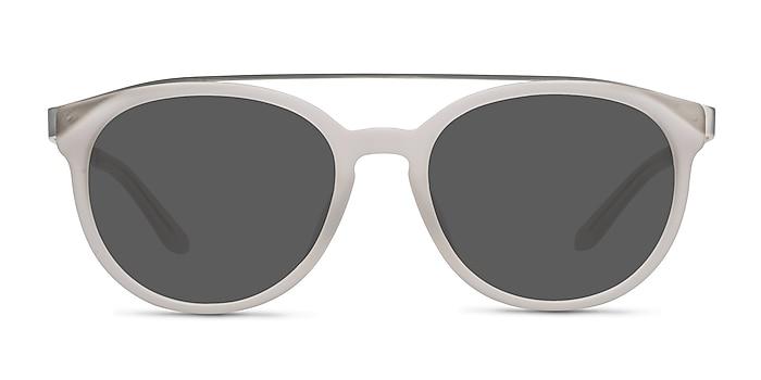 Morning Breeze Matte White Acetate-metal Sunglass Frames from EyeBuyDirect
