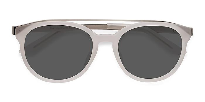 Matte White Morning Breeze -  Acetate, Metal Sunglasses