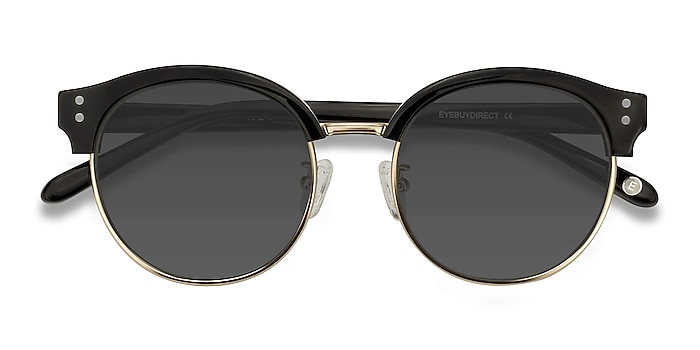 Black Limoncello -  Vintage Acetate, Metal Sunglasses