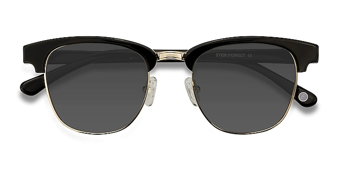 Black Somebody New -  Vintage Acetate, Metal Sunglasses