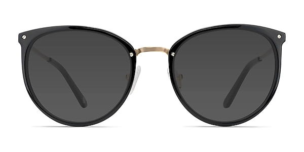 Crush Black Acetate-metal Sunglass Frames