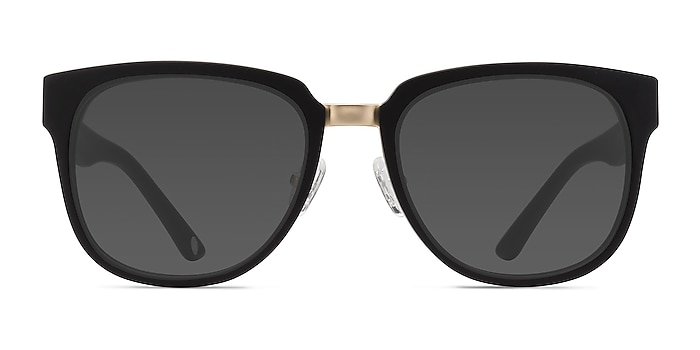 Haute Couture Matte Black Acetate-metal Soleil de Lunette de vue d'EyeBuyDirect
