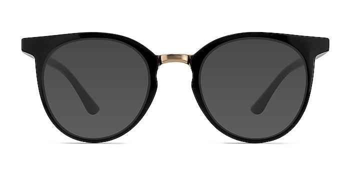 Lulu Black Plastic-metal Sunglass Frames from EyeBuyDirect