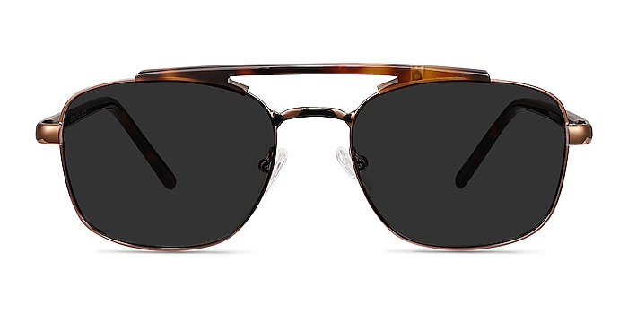 Decode Tortoise Brown Acetate-metal Soleil de Lunette de vue d'EyeBuyDirect