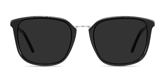 Yuma Noir Acetate-metal Soleil de Lunette de vue d'EyeBuyDirect