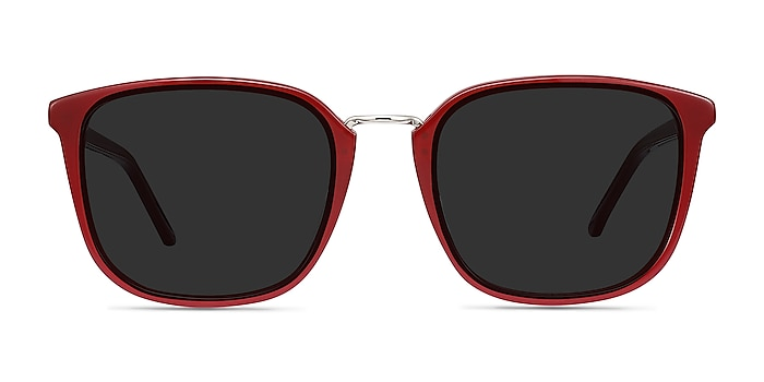 Yuma Red Acetate-metal Sunglass Frames from EyeBuyDirect
