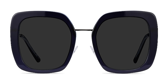 Canopy Bleu Acetate-metal Soleil de Lunette de vue d'EyeBuyDirect