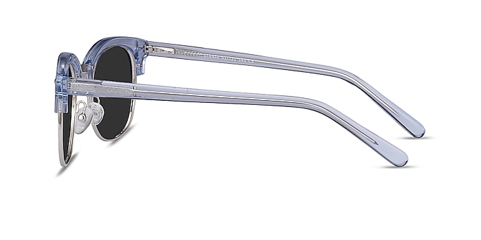 Strata Clear Blue Acetate-metal Sunglass Frames from EyeBuyDirect