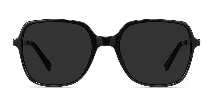 Olga Black & Gold Acetate-metal Sunglass Frames from EyeBuyDirect