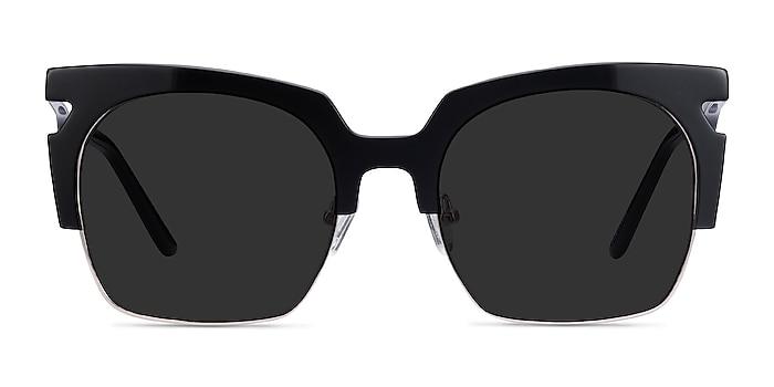 Ilsa Black Acetate-metal Sunglass Frames from EyeBuyDirect