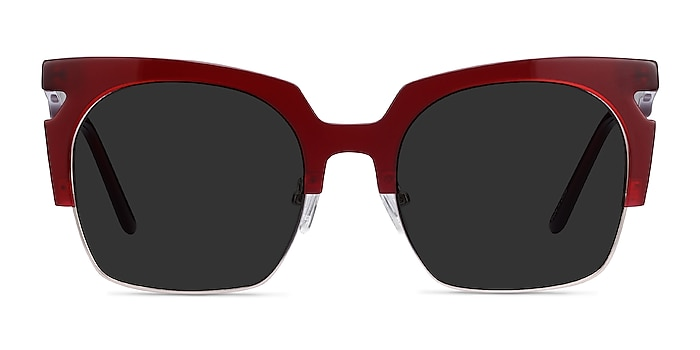 Ilsa Burgundy Acetate-metal Sunglass Frames from EyeBuyDirect