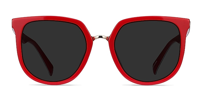 Shannon Red & Leopard Acetate Sunglass Frames from EyeBuyDirect