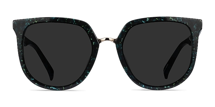 Shannon Green Floral Acetate Sunglass Frames from EyeBuyDirect