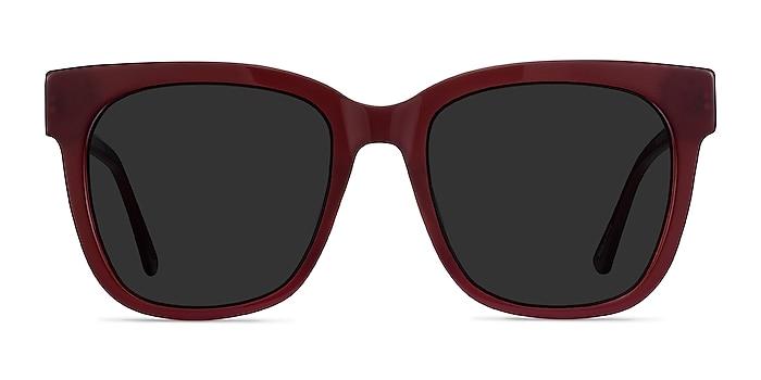 Erica Burgundy Acetate-metal Sunglass Frames from EyeBuyDirect