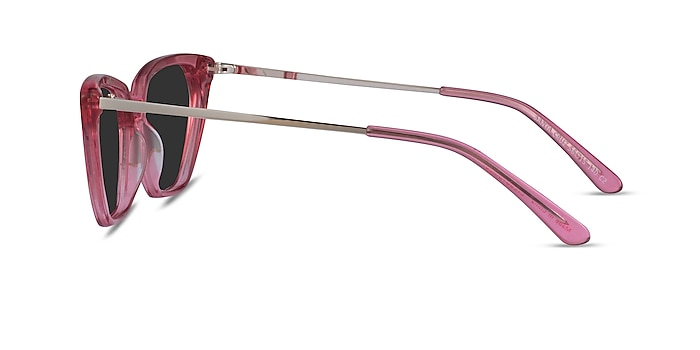 Santa Cruz Clear Pink Acetate Sunglass Frames from EyeBuyDirect