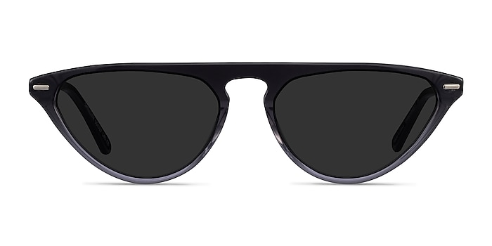 Satellite Clear Gray Metal Sunglass Frames from EyeBuyDirect