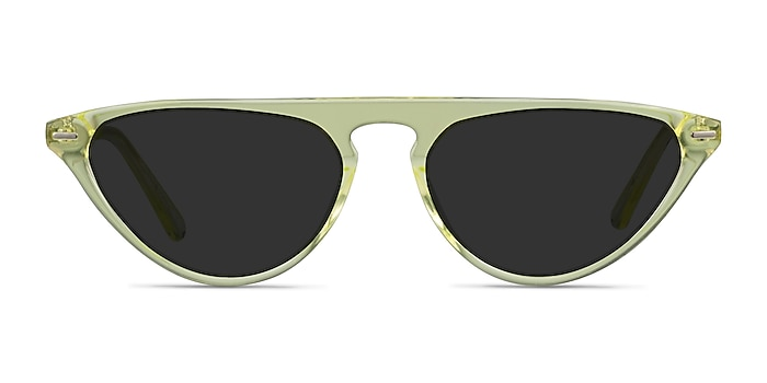 Satellite Clear Yellow Acetate Sunglass Frames from EyeBuyDirect