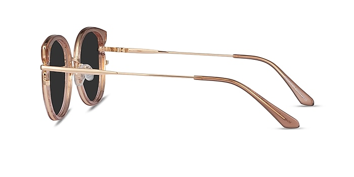 Fascination Clear Brown Gold Acetate Sunglass Frames from EyeBuyDirect