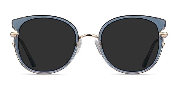 Fascination Clear Blue Gold Acetate Sunglass Frames