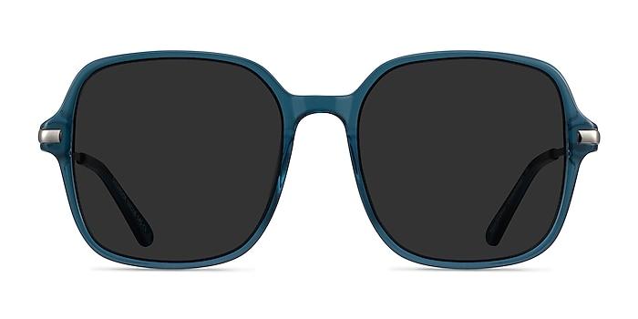 Salvador Teal Metal Sunglass Frames from EyeBuyDirect