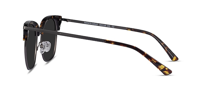Monte Carlo Tortoise Gunmetal Acetate Sunglass Frames from EyeBuyDirect