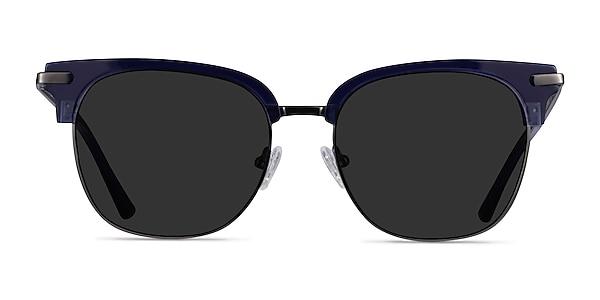 Monte Carlo Blue Gunmetal Acetate Sunglass Frames