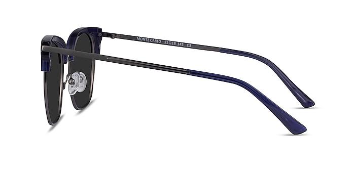 Monte Carlo Blue Gunmetal Acetate Sunglass Frames from EyeBuyDirect