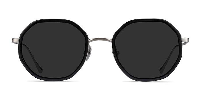 Hinode Black Gunmetal Acetate Sunglass Frames from EyeBuyDirect