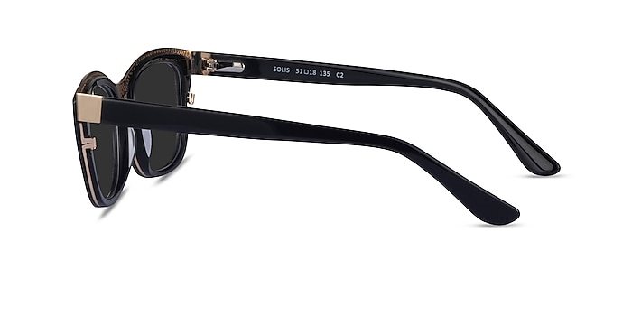 Solis Black Gold Acetate Sunglass Frames from EyeBuyDirect