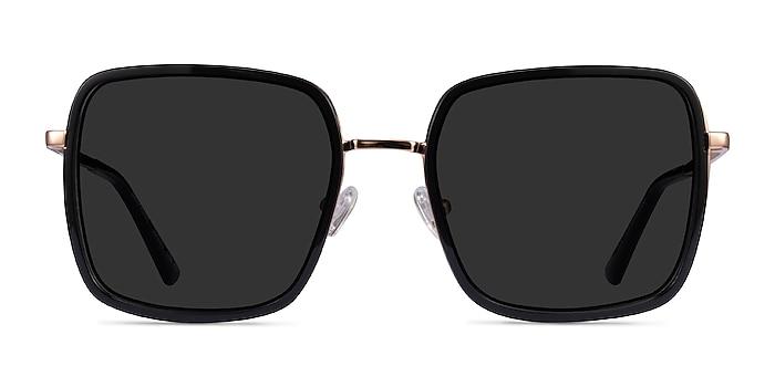 Graphene Black Gold Acetate Sunglass Frames from EyeBuyDirect