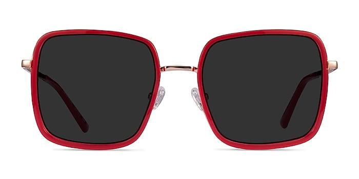 Graphene Red Gold Acétate Soleil de Lunette de vue d'EyeBuyDirect