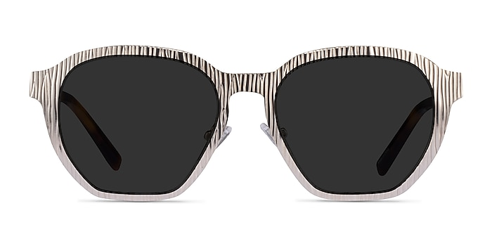 Electro Matte Silver Acetate Sunglass Frames from EyeBuyDirect