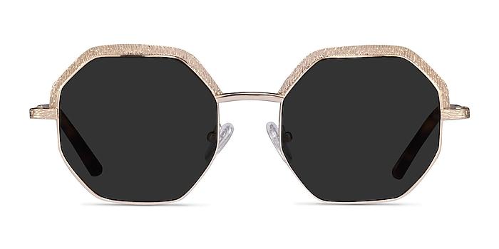 Futurist Shiny Gold Acetate Sunglass Frames from EyeBuyDirect