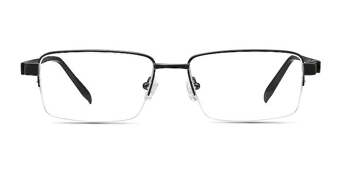 Aron Black Titanium Eyeglass Frames from EyeBuyDirect