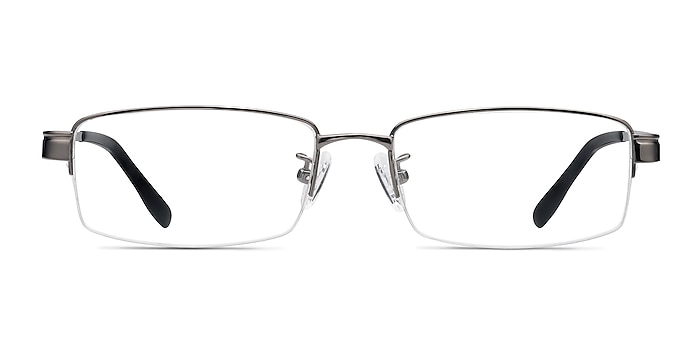 Emerge Gunmetal Titanium Eyeglass Frames from EyeBuyDirect